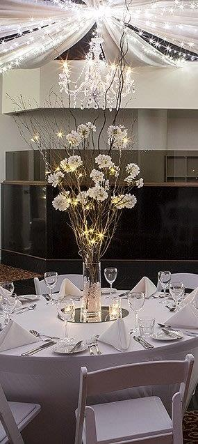 Battery Bamboo Fairy Light + Cherry Blossom Glass vase