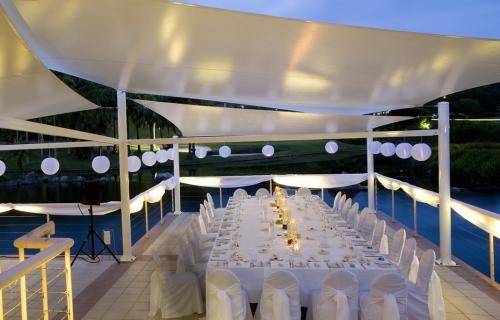 Lanterns sails deck Bay side Pacific Bay Resort