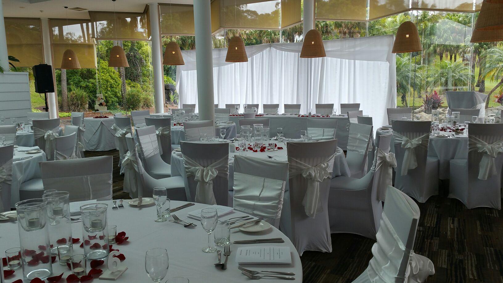 Wedding reception bay side grill restaurant Pacific Bay Resort