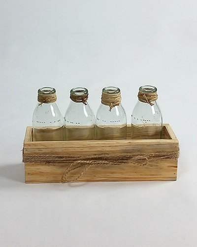 Glass Bottles Small Pine Crate 1 Special Occasions