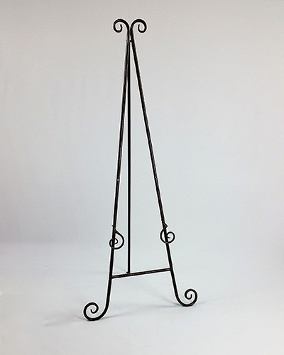 easel free standing floor plain gold special occasions