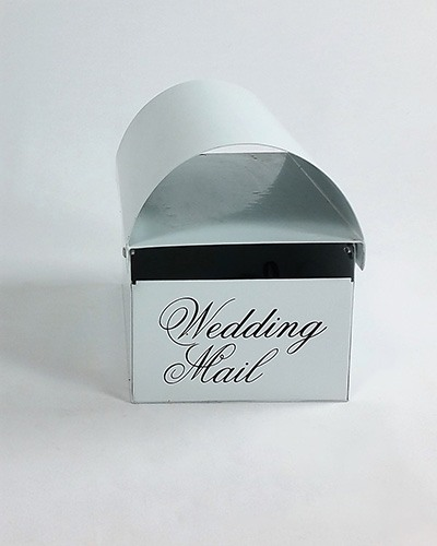 card mail box white metal special occasions