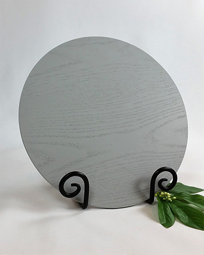 charger plate grey 33 cm diameter special occasions